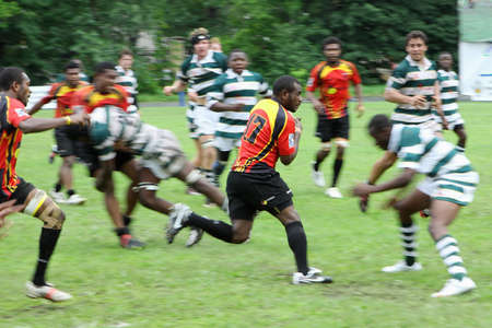 The 2010 IRB Junior World Rugby Trophy Moscow, Russia, from 18-30 May.  Zimbabwe and Papua New Guinea. Fili Stadium. The seventh place play-off