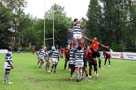 african solidarity: The 2010 IRB Junior World Rugby Trophy Moscow, Russia, from 18-30 May.  Zimbabwe and Papua New Guinea. Fili Stadium. The seventh place play-off Editorial