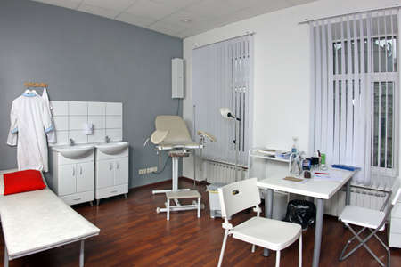 Interior of gynecologists office in hospital