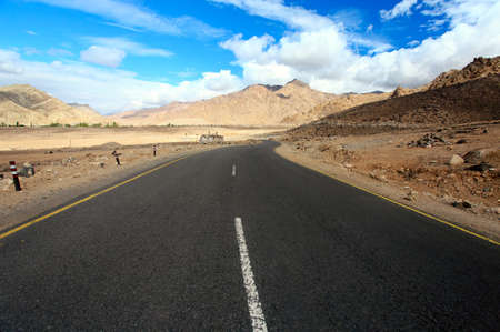 ladakh: Road to mountains. Himalayan scenic. Ladakh. India