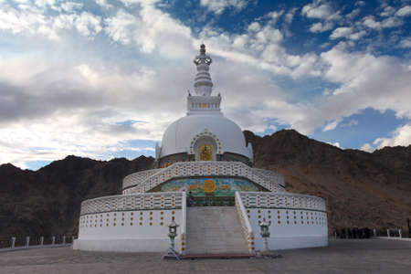 Shanti Stupa, Leh, Ladakh, India photo