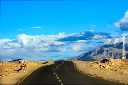 kashmir: Road in Leh Ladakh, Jammu and Kashmir, India  Stock Photo