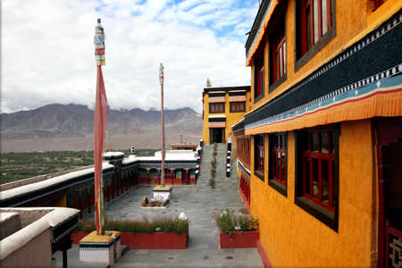 kashmir: Thiksey Gompa or Thikse Monastery  also transliterated as Tikse, Tiksey or Thiksey  is a Tibetan Buddhist monastery of the Yellow Hat  Gelugpa   Ladakh  India