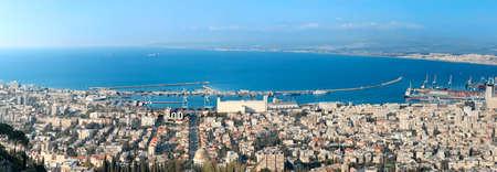 haifa: Panorama of haifa city from Israel Stock Photo