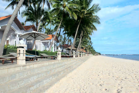 sea of houses: Beautiful luxury houses in tropical resort on the beach