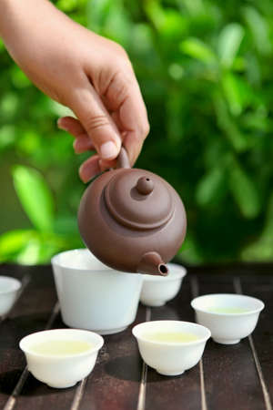Traditional chinese tea ceremony, close up photo Stock Photo - 18410750