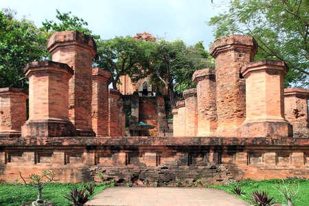 linga: Columns were built by the Cham civilization  Nha Trang, Vietnam