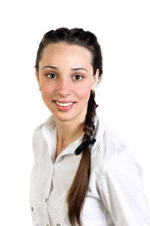 naivety: Portrait of young woman with braid