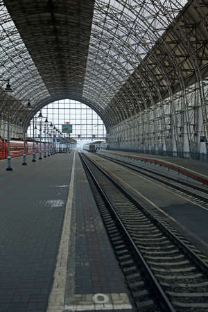 classicism: Covered railway station in style of classicism  Moscow