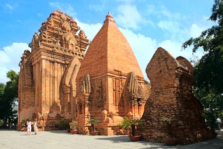 Towers were built by the Cham civilization. Thap ba Ponagar. Nha Trang, Vietnam photo