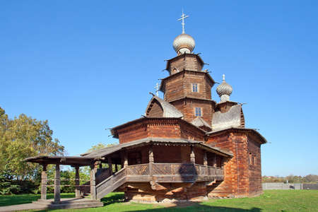 golden ring: The wooden church of Ressurection in Suzdal, Russia. Golden Ring of Russia