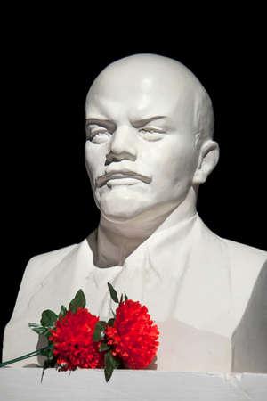 ulyanov: Lenin V.I. bust on  black background Stock Photo