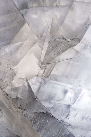 crystal background: Calcite crystal mineral stone background Stock Photo