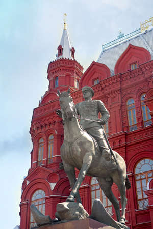 Zhukov monument on Red Square in Moscow Stock Photo