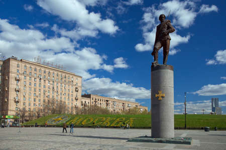 centenary: Moscow, Russia - May 4, 2017: Monument to the heroes of the First World War on Poklonnaya Hill in honor of the centenary of the First World War. Sculptors: A.Kovalchuk ,P.Lyubimov, V.Yusupov