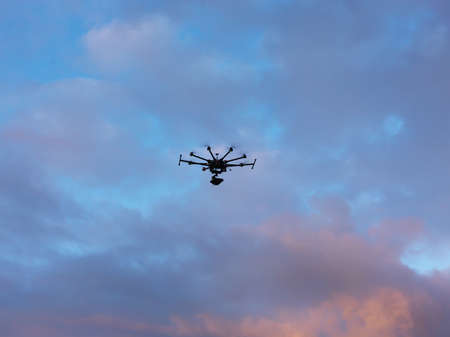 Drone Clouds Stock Photo
