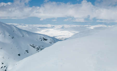 hardanger: Norwegian Mountains Stock Photo
