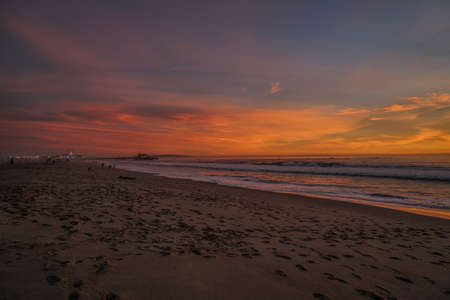 santa monica: Santa Monica Beach in Los Angeles
