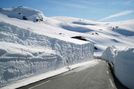 Winter Road in Norway