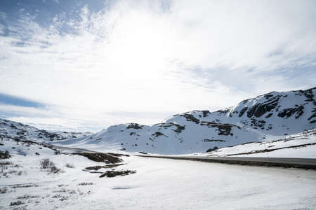 Area of the Aurlandsdalen Valley Stock Photo