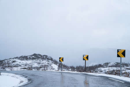 winter road: Roads in south of Norway