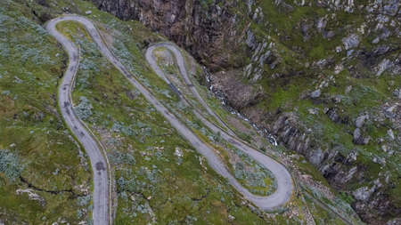 Roads in south Norway seen from drone Banque d'images