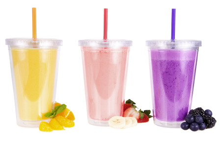 Fruit smoothies 免版税图像