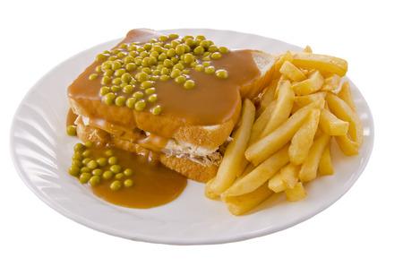 Hot chicken sandwich Stok Fotoğraf - 34322833