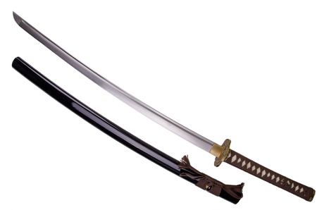tsuka: Katana sword Stock Photo