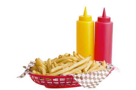 potato basket: French fries in basket