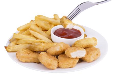 Nuggets de poulet Banque d'images - 34729704