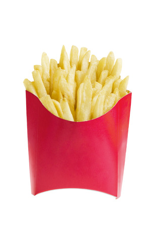 French fries in box Banco de Imagens