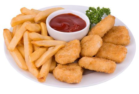 Nuggets de poulet Banque d'images - 34748565