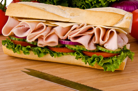 Submarine sandwich Stok Fotoğraf