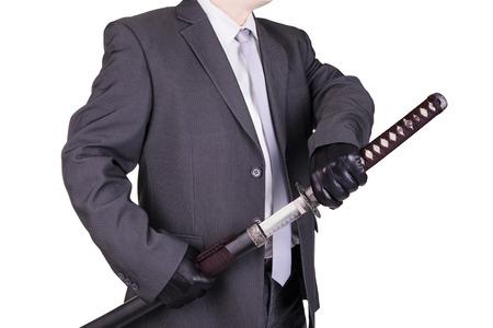 assassin: Elegant assassin holding katana