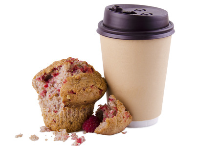 cup coffee: Coffee and muffin