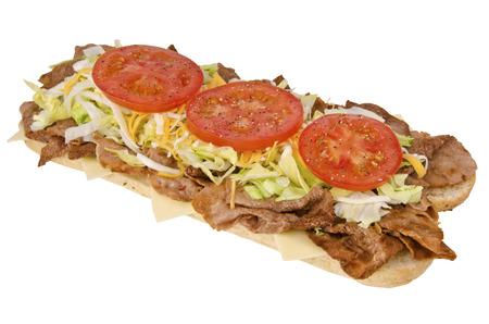 サブマリン サンドイッチ 写真素材