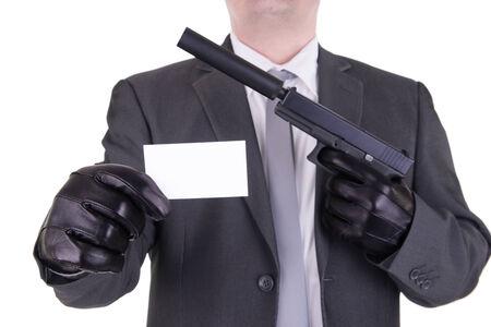 the silencer: Elegant gangster hitman assassin