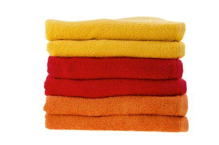 Stack of bath towels Фото со стока