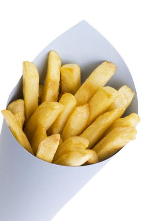 papas fritas: Franc�s fritas Foto de archivo