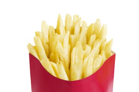 French fries in box Standard-Bild