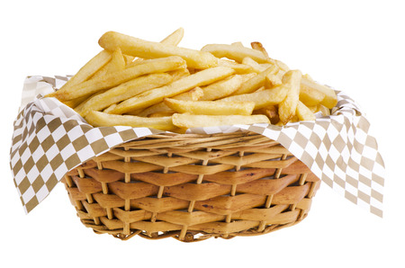 French fries in basket photo