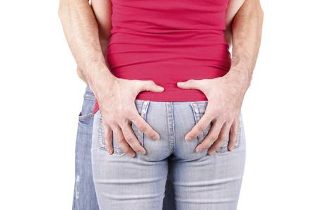 culetto di donna: Ragazza ed uomo in jeans