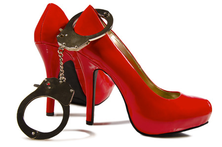 Handcuffs and high heels