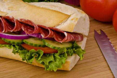 sub: Submarine sandwich Stock Photo