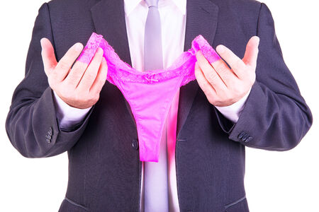 Unternehmer, die eine rosa Höschen. Standard-Bild - 35229173