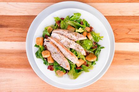 chicken caesar salad: Fresh chicken caesar salad Stock Photo