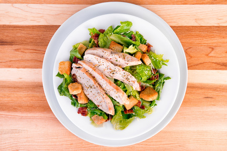 Fresh chicken caesar salad Stock Photo