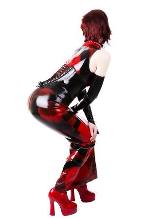 Woman dressed in dominatrix clothes Banco de Imagens