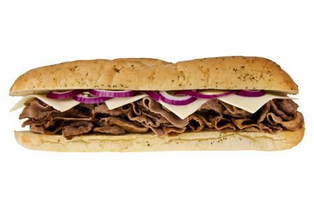 Steak-Käse-Sandwich Standard-Bild - 35956129